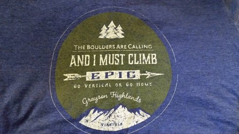 Pick up your Grayson Highlands Bouldering shirt at the Park Office or Visitors Center!
