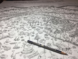 Close-up of the 2nd Edition GHSP Bouldering & Landscape Map