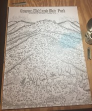 Grayson Highlands State Park Boulderfields and Landscape Map